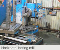 Horizontal boring mill: Conventional Machining